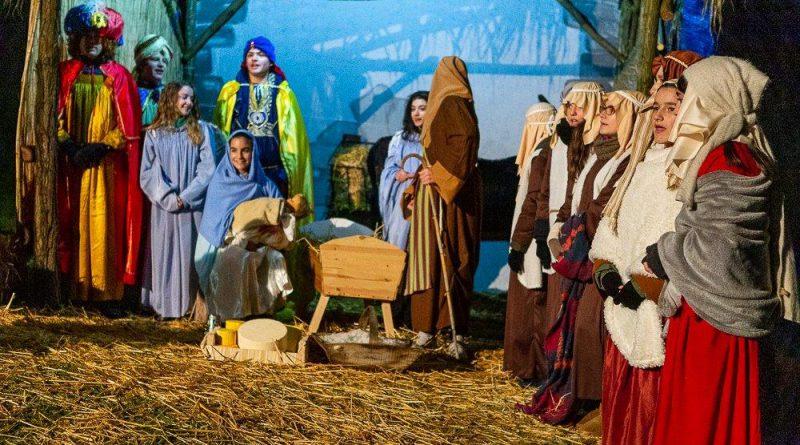 Una piccola Betlemme nel cortile del San Giuseppe